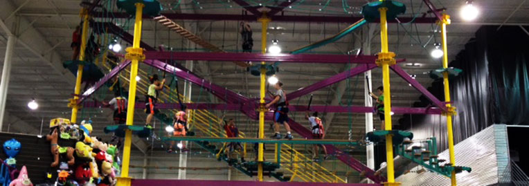 Family Party Games >> Sports Connection : Sky Trail Ropes Course